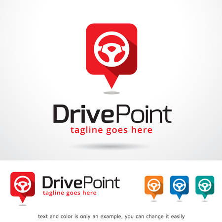 Drive Point Template Design Vector