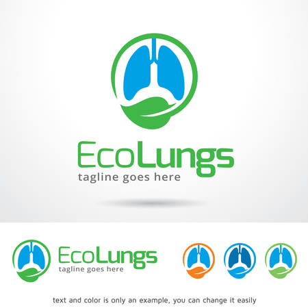 clean lungs: Eco Lungs Template Design Vector