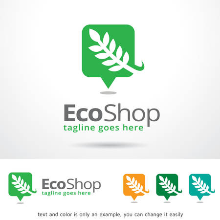 brand activity: Eco Shop Template Design Vector