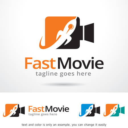 record shop: Fast Movie Template Design Vector