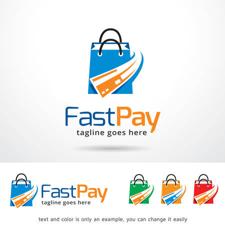 Fast Pay Template Design Vector