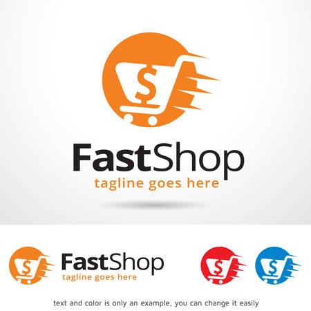 quick money: Fast Shop Template Design Vector