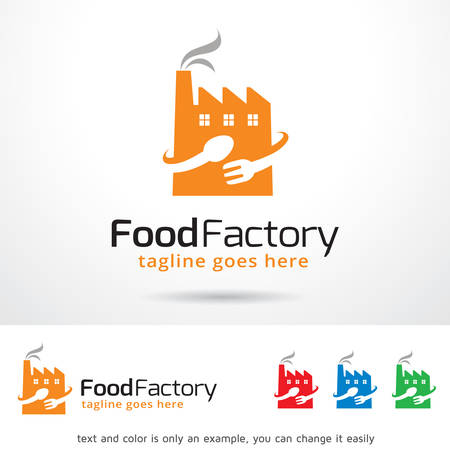 food industry: Food Factory Template Design Vector
