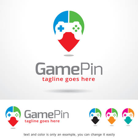 Game Pin Template Design Vector