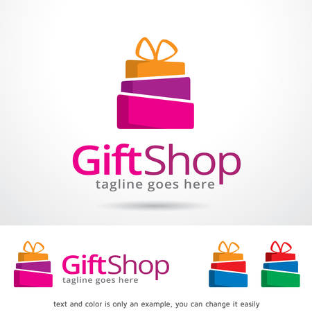gift shop: Gift Shop Template Design Vector