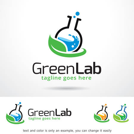 Green Lab Template Design Vector