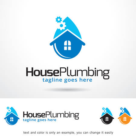 House Plumbing Template Design Vector