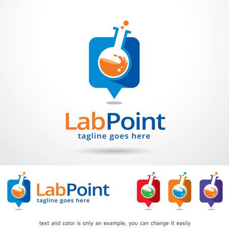 Lab Point Template Design Vector Illusztráció