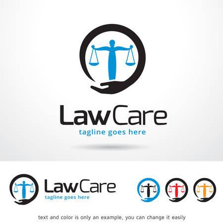 Law Pflege Template Design Vektor