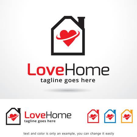 home design: Love Home Template Design Vector Illustration