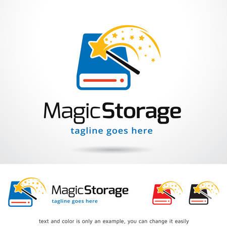 storage device: Magic Storage Template Design Vector