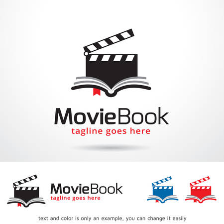 Movie Book Template Design Vector Çizim