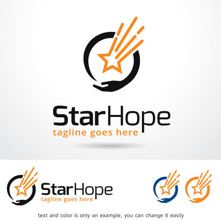 hope: Star Hope Template Design Vector Illustration