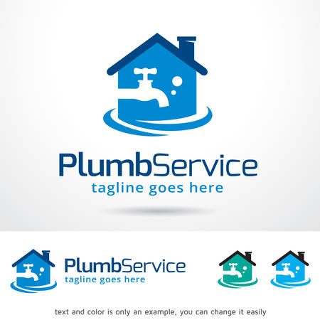 Plumb Water Template Design Vector