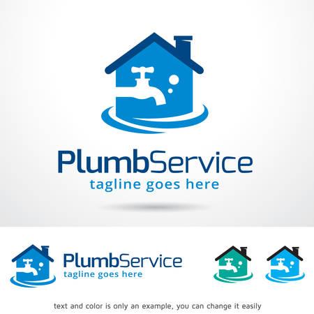 plumb: Plumb Water Template Design Vector