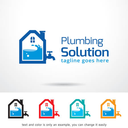 Plumbing Solution Template Design Vector