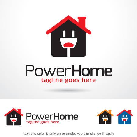 home design: Power Home Template Design Vector
