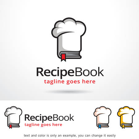 Recipe Book Template Design Vector