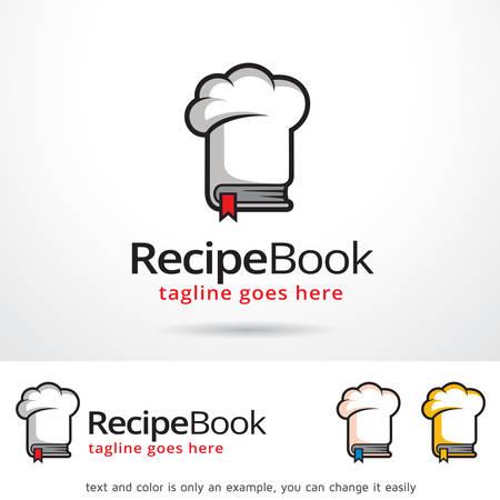 recipe book: Recipe Book Template Design Vector