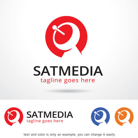 sattelite: Satellite Media Template Design Vector Illustration