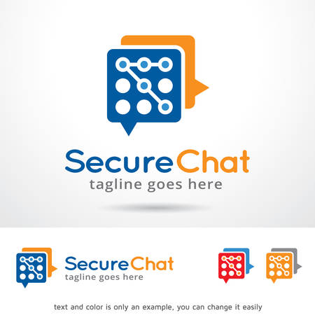 Secure Chat Template Design Vector