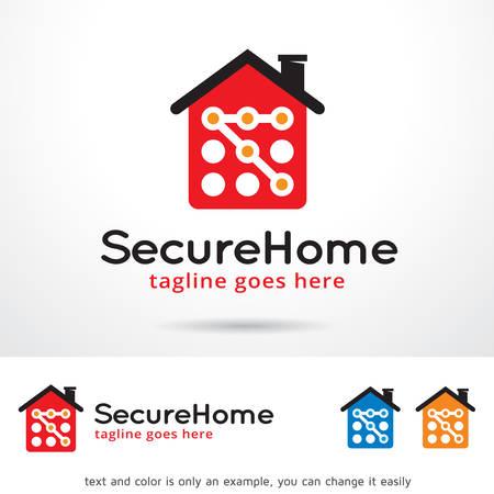 secure: Secure Home Template Design Vector Illustration
