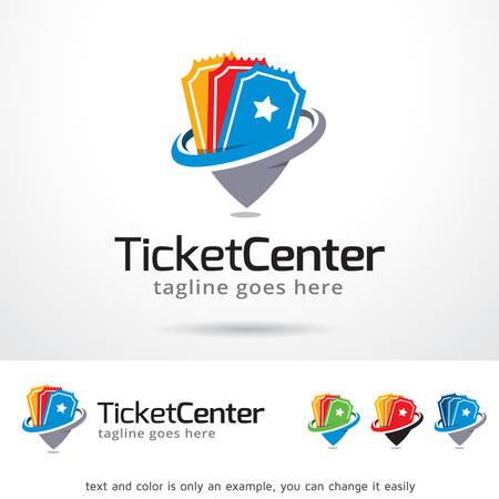 Ticket Center Template Design Vector