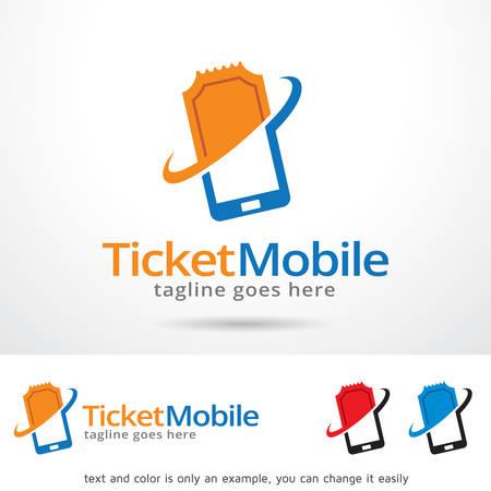 Ticket Mobile Template Design Vector