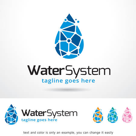 Water System Template Design Vector Stock Illustratie