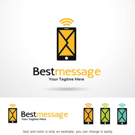 best message: Best Message Template Design Vector Illustration
