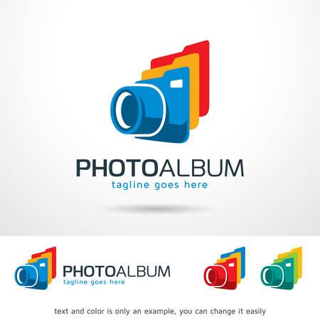 Photo Album Template Design Vector Illusztráció