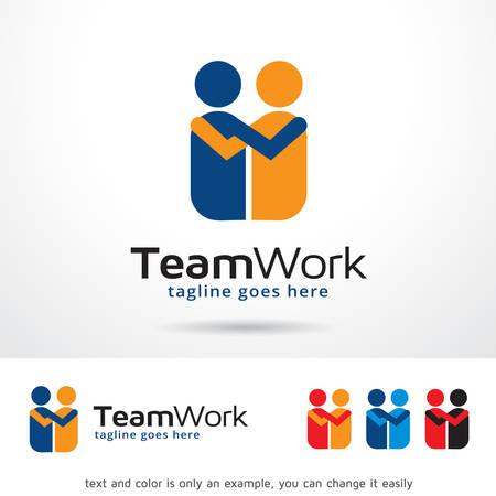 Team Work Template Design Vector  イラスト・ベクター素材
