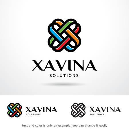 Xavina Letter X Template Design Vector Illusztráció