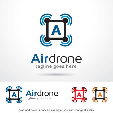 Air Drone Template Design Vector