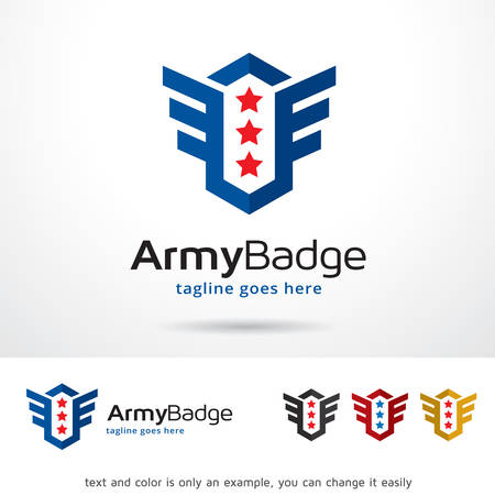 Army Badge Template Design Vector