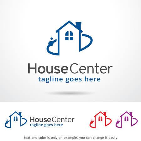 House Center Template Design Vector