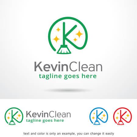 kevin: Kevin Clean Letter K Template Design Vector