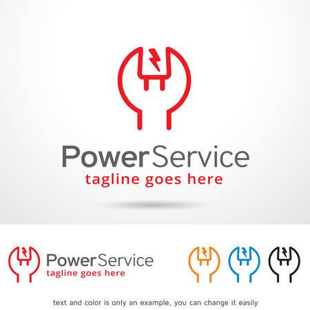 Power Service Template Design Vector Ilustrace