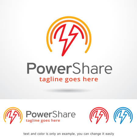 electric power: Power Share Template Design Vector