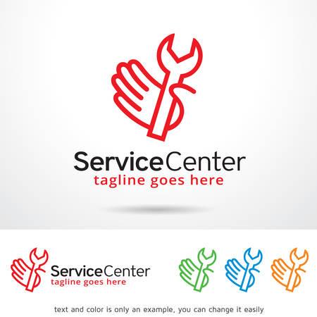 service center: Service Center Template Design Vector
