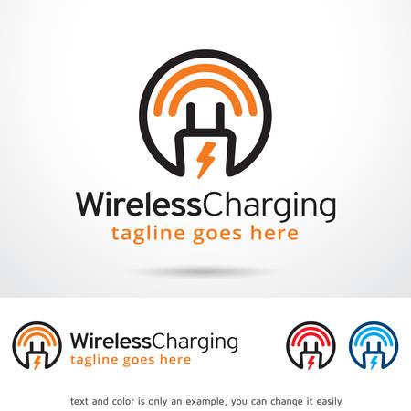 charging: Wireless Charging Template Design Vector