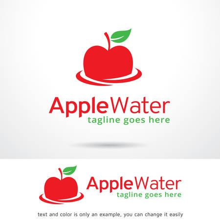 manzana agua: Plantilla de dise�o vectorial agua de Apple