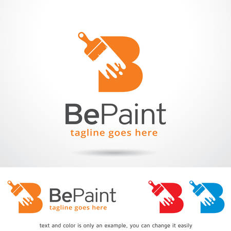 brand activity: Be Paint Letter B Template Design Vector