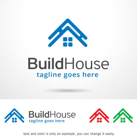 Build House Template Design Vector