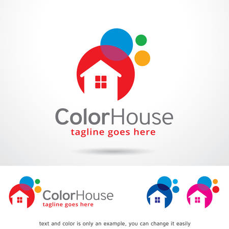 Color House Template Design Vector