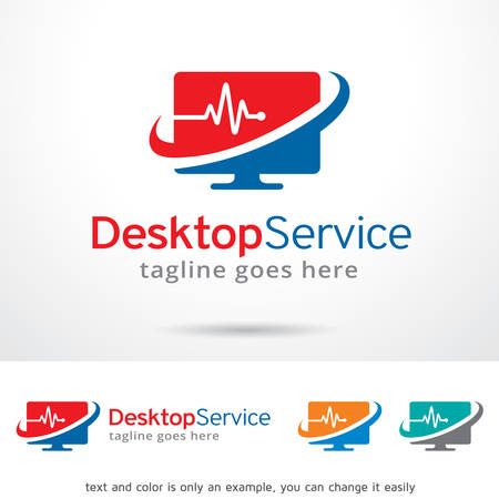 Desktop Service Template Design Vector