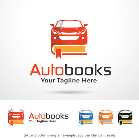 Auto Books Template Design Vector Ilustrace