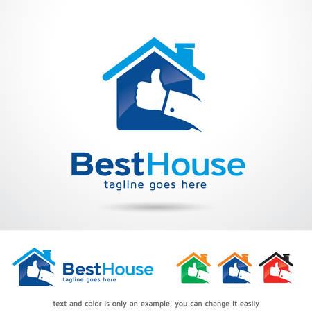 Best House Template Design Vector Ilustrace