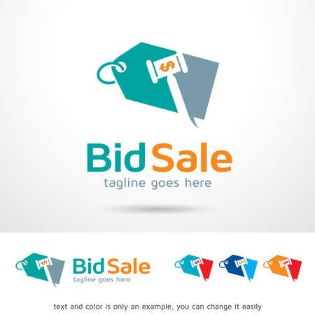 bid: Bid Sale Template Design Vector Illustration