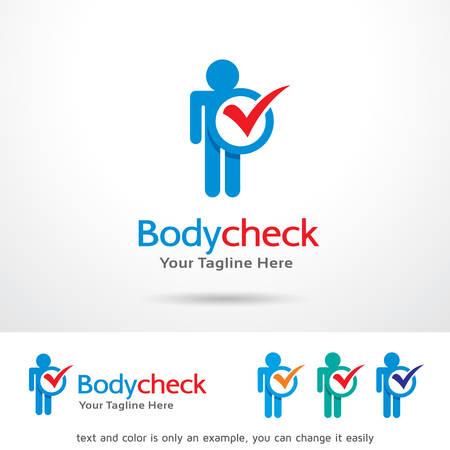 body check: Body Check Template Design Vector